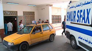مدخل مستشفى الحبيب بورقيبة الجامعي بصفاقس