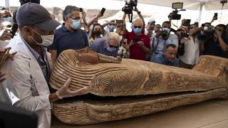 Se encontraron 59 sarcófagos en el emplazamiento de Saqqa.