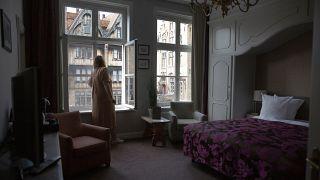 Quarto de hotel vazio em Bruges, na Bélgica