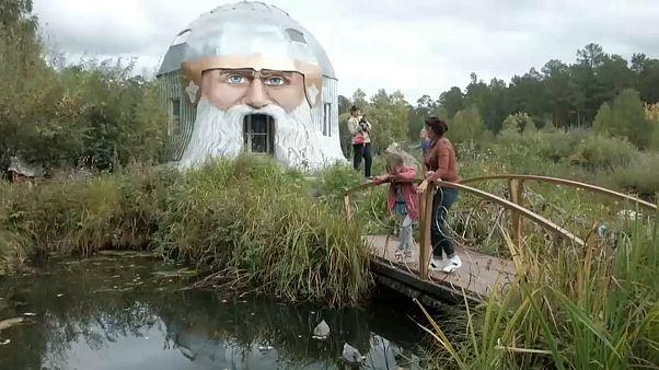 В Миассе появился необычный арт-объект в виде головы богатыря Святогора