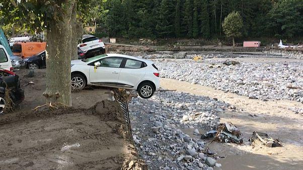 Πλημμύρες και κατολισθήσεις στη νοτιοανατολική Γαλλία