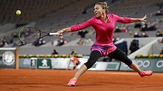 Simona Halep à Roland-Garros, le 04/10/2020