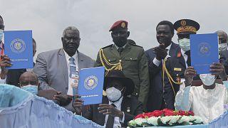 اتفاق سلام جنوب السودان الموقع في جوبا في 3 أكتوبر / تشرين الأول 2020.