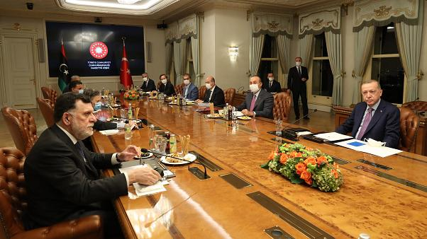Cumhurbaşkanı Erdoğan'ın, Libya Başbakanı Fayiz es-Serrac'ı kabulü