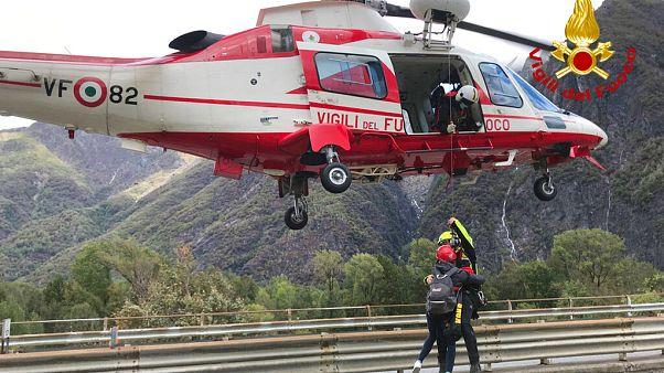 Sauvetage à Ornavasso, dans le Piémont, en Italie, 4 octobre 2020