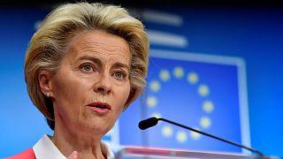 La présidente de la Commission européenne, Ursula von der Leyen, le 2 octobre 2020 à Bruxelles