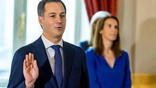 Le Premier ministre belge Alexander de Croo devant le Roi de Belgique le 1er octobre 2020