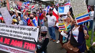 Protestas en Costa Rica contra el plan económico del Gobierno