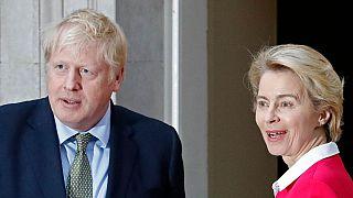 Boris Johnson ve Ursula von der Leyen
