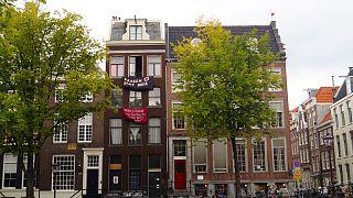 Besetztes Haus im Grachtenviertel, Amsterdam