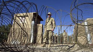 یک نظامی آمریکایی در پایگاه هوایی قندهار
