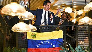 Juan Guaidó da un discurso en Londres el pasado mes de enero
