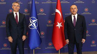 NATO Genel Sekreteri Stoltenberg, Türkiye Dışişleri Bakanı Mevlüt Çavuşoğlu