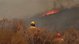 About 300 firefighters try to control fires in Cordoba, Argentina