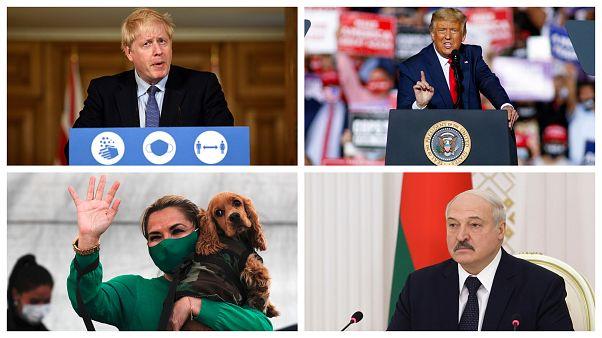Boris Johnson, Donald Trump, Jeanine Áñez és Aljakszandr Lukasenka