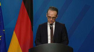 Deutschlands Außenminister Heiko Maas nach einem Treffen mit EU-Chefunterhändler Michel Barnier in Berlin