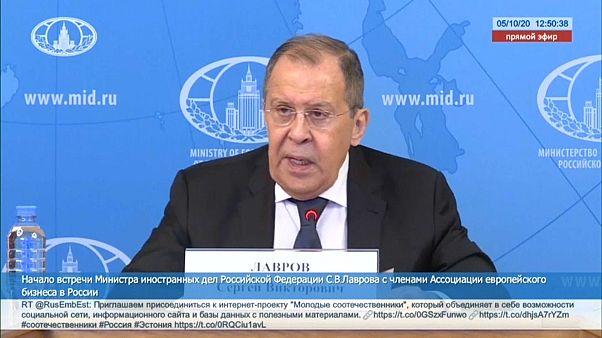 """Lavrov considera """"ultrajantes"""" as acusações de Navalny contra Moscovo"""