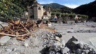 Breil-sur-Roya, dévasté par les crues de vendredi