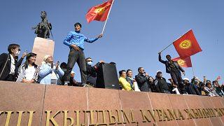 Митинг протеста в Бишкеке собрал, по официальным данным, не менее 6 000 человек
