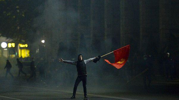 تظاهرات در قرقیزستان