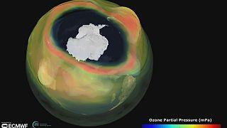 Antarktika üzerinde son dönemin en büyük ve en derin ozon deliği oluştu