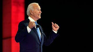 Le démocrate Joe Biden s'exprimant en meeting électoral à Miami en Floride, 5 octobre 2020