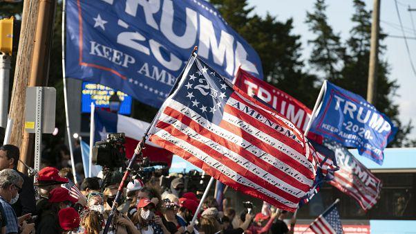 Trump elnök támogatói Bethesdában