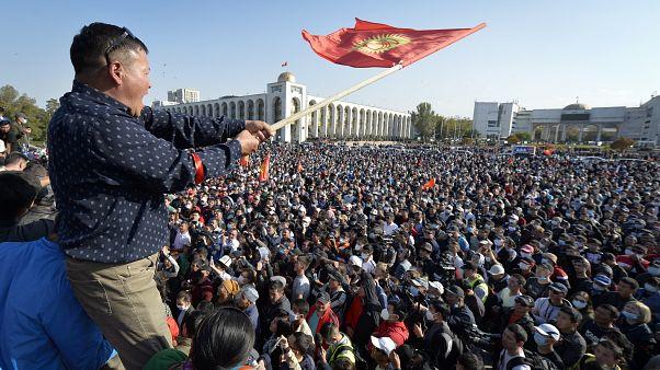 Kundgebung in  Bischkek