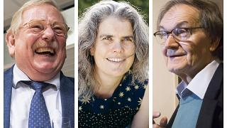 I tre scienziati insigniti del Premio Nobel per la Fisica.