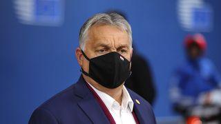 رئيس الوزراء المجري فيكتور أوربان في مبنى المجلس الأوروبي في بروكسل  2 أكتوبر 020.
