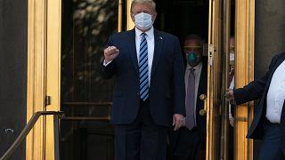 ABD Başkanı Donald trump Covid-19 tedavisi gördüğü hastaneden taburcu oldu