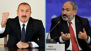 Ilham Aliyev e Nikol Pashinyan defenderam posições em entrevista à Euronews