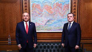 Türkiye Dışişleri Bakanı Çavuşoğlu ile Azerbaycan Dışişleri Bakanı Bayramov