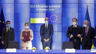 القمّة الأوروبية-الأوكرانية المنعقدة بالمجلس الأوروبي في بروكسل 6 أكتوبر 2020