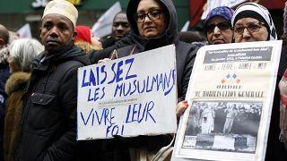 تظاهرات در پاریس علیه «اسلامستیزی»