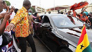 Nana Akufo-Addo se déplace au siège de la Commission électorale