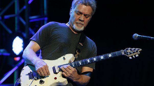 Eddie Van Halen at Ak-Chin Pavillion on Monday, September 28, 2015, in Phoenix, Arizona.