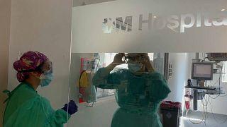 Unidad de cuidados intensivos del Hospital Universitario de Torrejón
