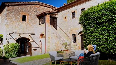 Tourists have been welcomed to hide away from the pandemic in a Tuscany castle