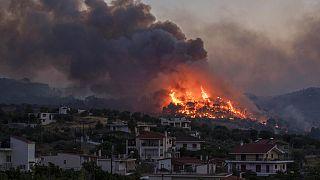 Erdőtűz Görögországban