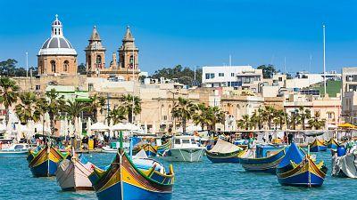 Fisherman boats in Malta