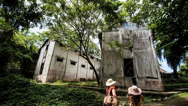 Tourists visit the former prison at Isla San Lucas in Costa Rica