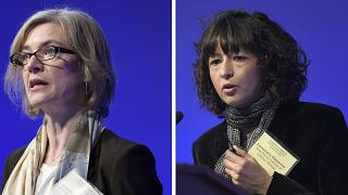 Le due vincitrici del Premio Nobel per la Chimica: a sinistra Jennifer Doudna, a destra Emmanuelle Charpentier.