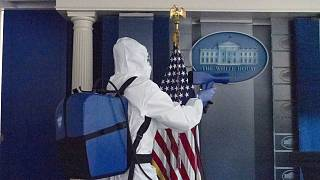 Operaciones de desinfección de la Casa Blanca