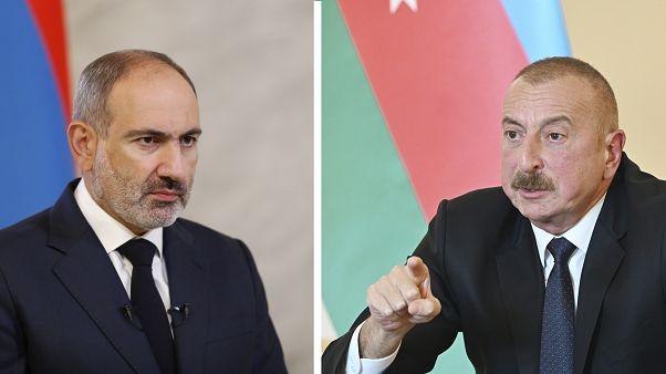 Los presidentes Pashinian y Alíev
