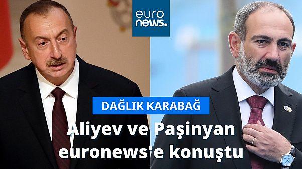 Aliyev ve Paşinyan euronews'e konuştu