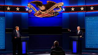 ترامب وبايدن خلال مناظرتهما الأخيرة