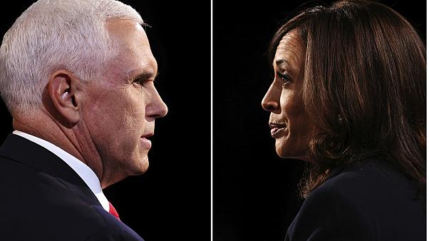 Mike Pence (left) and Kamala Harris (right) went head-to-head at the vice presidential debate
