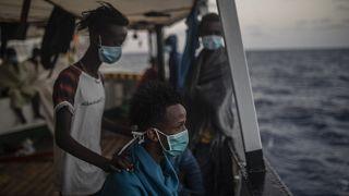 مهاجران آفریقایی در سواحل لیبی
