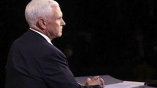 Eine Fliege stiehlt Mike Pence die Show, Salt Lake City, Utah, USA,7.10.2020